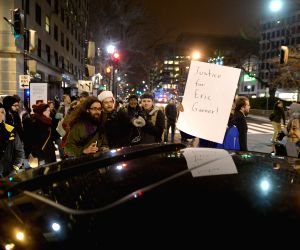 Washington DC. (United States): protesting against death of black man