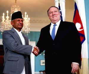 U.S. WASHINGTON D.C. POMPEO NEPAL FM MEETING