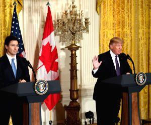 U.S.-WASHINGTON D.C.-TRUMP-CANADA-TRUDEAU-PRESS CONFERENCE