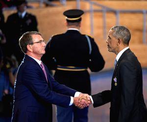 U.S. WASHINGTON D.C. ARMED FORCES OBAMA FAREWELL