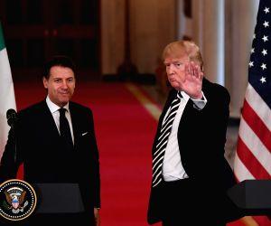 U.S. WASHINGTON D.C. TRUMP ITALY PM PRESS CONFERENCE