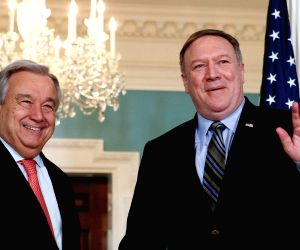 U.S.-WASHINGTON D.C.-POMPEO-GUTERRES-MEETING