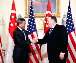 U.S. WASHINGTON D.C. POMPEO SINGAPORE FM MEETING