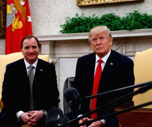 U.S. WASHINGTON D.C. TRUMP SWEDEN PM MEETING