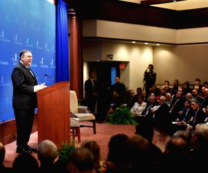 U.S.-WASHINGTON D.C.-POMPEO-IRAN-SPEECH