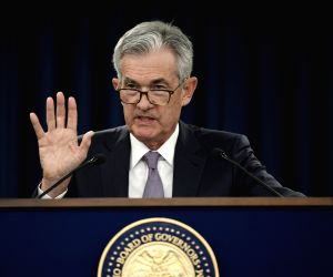 WASHINGTON, Sept. 18, 2019 - U.S. Federal Reserve Chairman Jerome Powell speaks during a press conference in Washington D.C., the United States, on Sept. 18, 2019. U.S. Federal Reserve on Wednesday ...