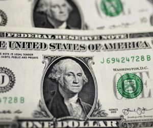 WASHINGTON, Sept. 18, 2019 (Xinhua) -- Photo taken on Sept. 18, 2019 shows U.S. dollar banknotes in Washington D.C., the United States. U.S. Federal Reserve on Wednesday lowered interest rates by 25 basis points amid growing risks and uncertainties s
