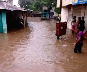 Flooded Purna river