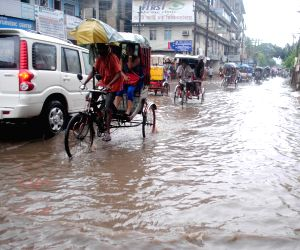 Water-logged streets of Guwahati