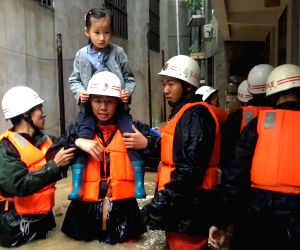 CHINA GANSU HEAVY RAIN EVACUATION