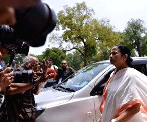 Mamata Banerjee arrives at Parliament
