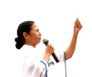 Mamata at TMC's Martyrs' Day rally