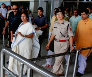 Mamata Banerjee at Bagdogra Airport
