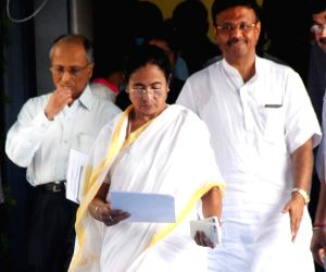 West Bengal Chief Minister Mamata Banerjee arrives for a press conference, in Kolkata, on July 5, 2018.