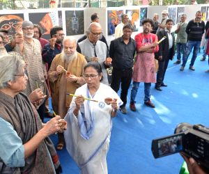 Mamata Banerjee participates in painting programme as part of Anti-CAA-NRC-NPR protest