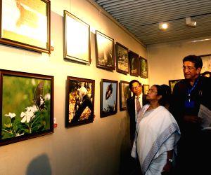 Mamata Banerjee during inauguration of Sabyasachi Chakrabarty's photo exhibition
