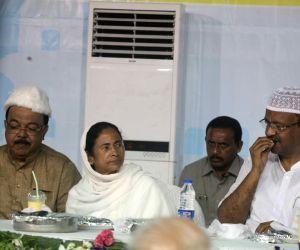 Mamata Banerjee during an Iftaar party