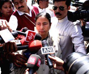 Mamata Banerjee at the Parliament