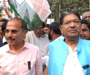 Congress protest against Amit Shah