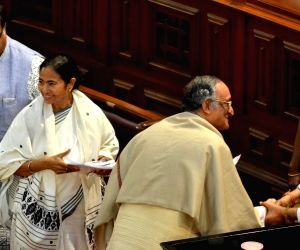 Amit Mitra presents the state budget for 2017-18