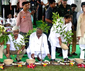 WB Governor Tripathi plants a sapling at State Assembly