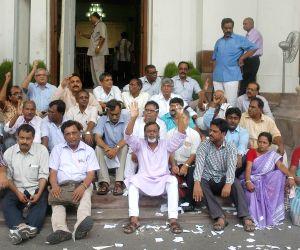 Surya Kanta Misra and other left MLA's boycott the session