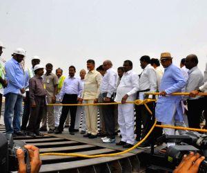 West Godavari : Polavaram Project  -  Chandrababu Naidu inspects work in progress