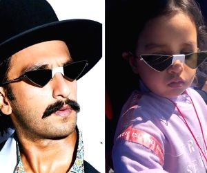 When Dhoni's daughter spotted Ranveer Singh wearing same glasses.