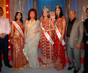 Winners at the Gladrags Mrs.India contest.