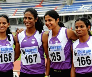 Rio bound Indian Olympic contingent - practice session
