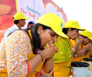 Mango Eating Competition for Women