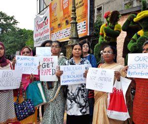 Women's protest march against Unnao, Kathua rape incidents
