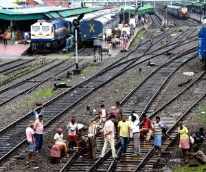 File Photo: Repair works on railway tracks