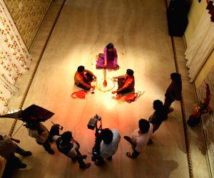 Working stills of Telugu film Digbandhana