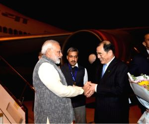 Wuhan (China): PM Modi arrives in Wuhan for 1st Informal Summit with President Xi