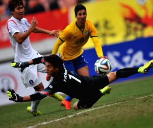 Wuhan (China): International Youth Football Tournament match -South Korea v/s Brazil