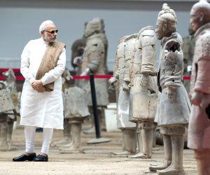 Xi'an: Prime Minister Narendra Modi visits the Emperor Qinshihuang's Mausoleum Site Museum