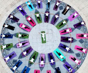 XIAJIANG, June 21, 2018 - People take part in a yoga practice at the Baihua Park in Xiajiang County, east China's Jiangxi Province, June 21, 2018. The UN General Assembly declared June 21 as the ...