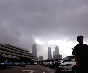The typhoon Hagibis brought torrential rain in Xiamen
