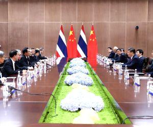 CHINA-XIAMEN-XI JINPING-THAI PM-MEETING