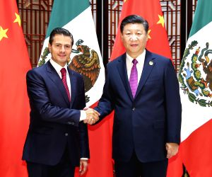 CHINA-XIAMEN-XI JINPING-MEXICAN PRESIDENT-MEETING