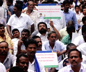 Y S R Congress demonstration