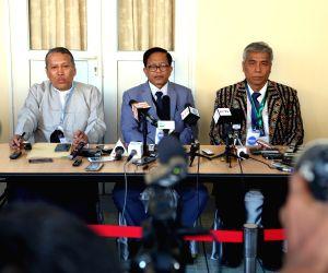 MYANMAR YANGON PEACE TALK PRESS CONFERENCE