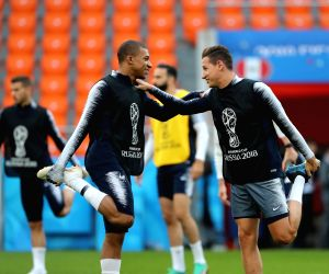 RUSSIA-YEKATERINBURG-2018 WORLD CUP-FRANCE-TRAINING