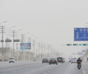 CHINA NINGXIA DUSTY WEATHER