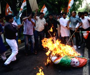 Youth Congress demonstration against Arun Jaitley