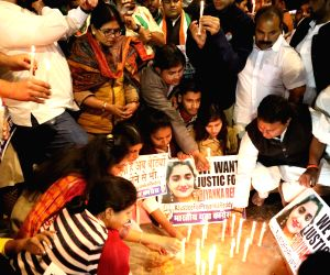 Youth Congress takes out candlelight vigil demanding justice