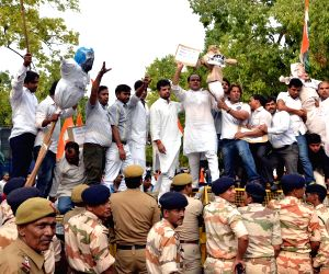 Youth Congress demonstration against Ved Pratap Vaidik