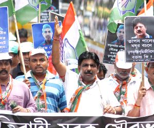 Youth Congress rally against WB Govt