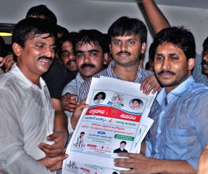 Y S Jagan Mohan Reddy releases blood donation day poster